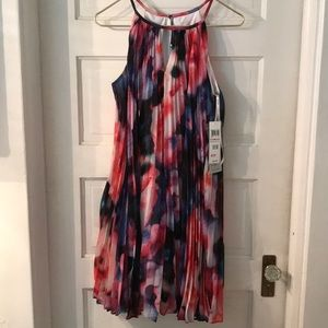Maggy London pixelated floral dress NWT
